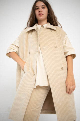 Cary Coat in Grey Beige