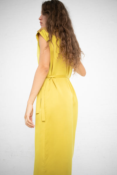 Nehera Sleeveless Wrap Dress in Mustard  | Oroboro Store | New York, NY