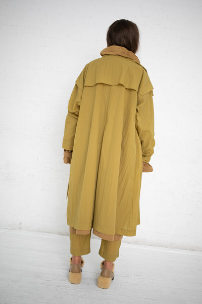 Nehera Two-Piece Worker's Trench Coat in Ocre/Mustard  | Oroboro Store | New York, NY