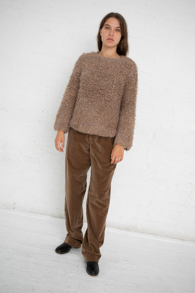 Lauren Manoogian Carpet Stitch Pullover in Brown Combo | Oroboro Store | New York, NY
