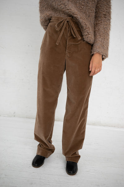 Lauren Manoogian Corduroy Soft Pant in Umber | Oroboro Store | New York, NY