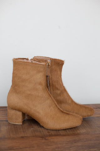 Brother Vellies Kaya Short Boot in Honey Calf Hair | Oroboro Store | Brooklyn, New York