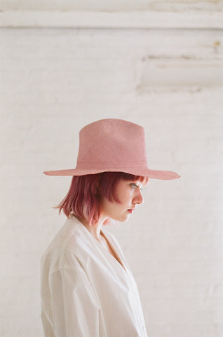Reinhard Plank Laila Open Straw Hat in Rose | Oroboro Store | Brooklyn, New York