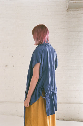 Bernhard Willhelm Blouse in Surf Blue | Oroboro Store | Brooklyn, New York