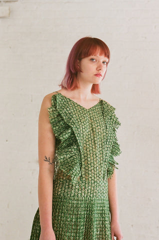 A Detacher Loretta Dress in Green | Oroboro Store | Brooklyn, New York