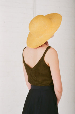 Reinhard Plank Donna Straw Hat in Yellow | Oroboro Store | Brooklyn, New York
