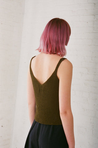 Samuji Galina Top in Green | Oroboro Store | Brooklyn, New York