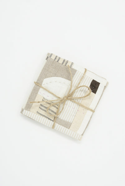 Thompson Street Studio Patchwork Coaster in Neutral