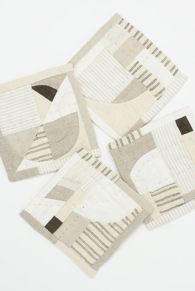 Thompson Street Studio Patchwork Coaster in Neutral all