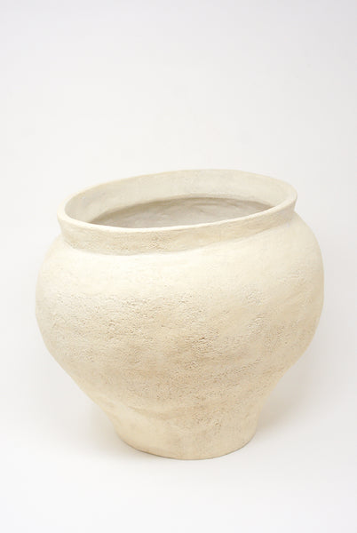 Lost Quarry Hand Built Vessel No. 000112 - XL Planter in Limestone