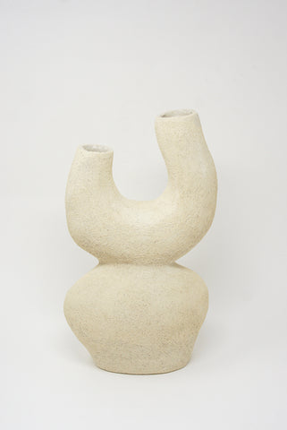Lost Quarry Hand Built Vessel No. 00115 - Stacked Tower - Double Opening Vessel in Limestone