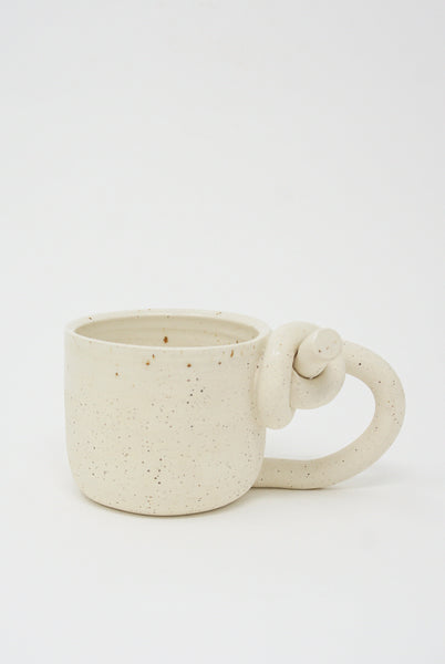 Lost Quarry Knotted Mugs - Single Top Knot with Handle in Snow
