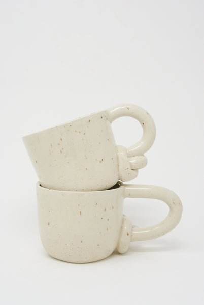 Lost Quarry Mug with Single Bottom Knot Handle in Snow group view