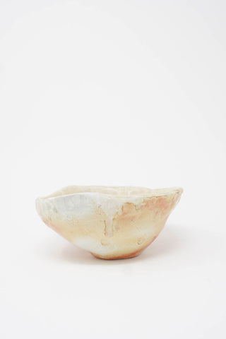 MONDAYS Wood Fired Coil Bowl - Porcelain in Natural & Rust side view