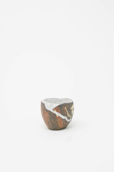MONDAYS Mini Marbled Bowl - Mixed Stoneware in Brown Multi II