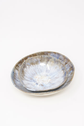 Minh Singer 2 Piece Bowl Set in Neptune stacked