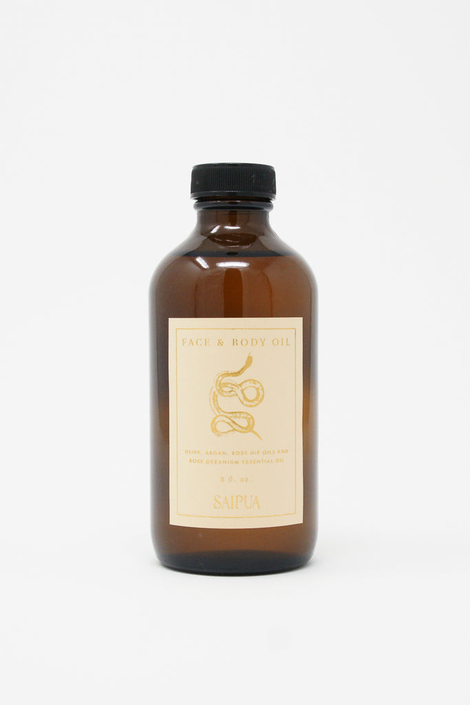 Saipua Snake Oil Rose Geranium Face and Body Oil