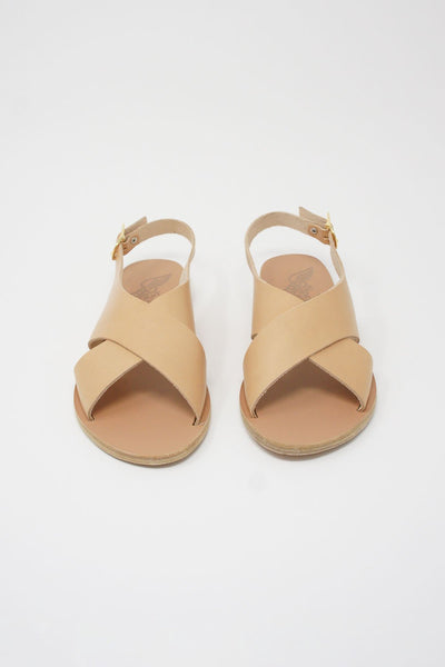Ancient Greek Sandals Maria Sandal - Vachetta Leather in Natural front view