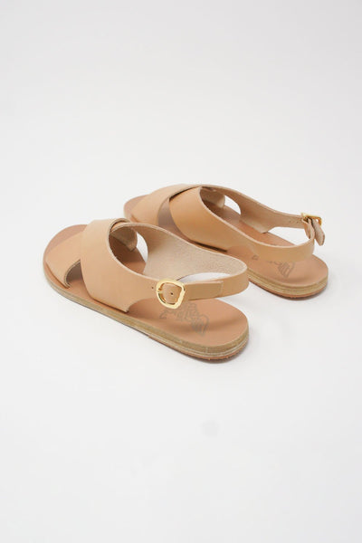 Ancient Greek Sandals Maria Sandal - Vachetta Leather in Natural diagonal back view