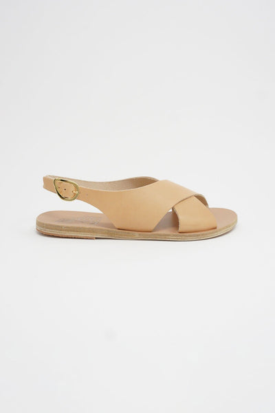 Ancient Greek Sandals Maria Sandal - Vachetta Leather in Natural side view