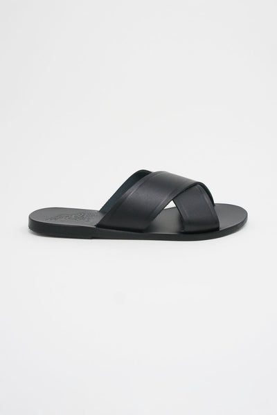 Ancient Greek Sandals Thais Sandal - Vachetta Leather in Black side view