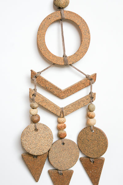 Heather Levine Small wall Hanging in Tan & Brown