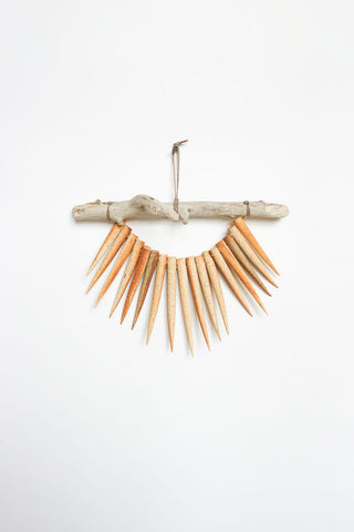 Heather Levine Small Wall Hanging - Driftwood with Spikes in Brown