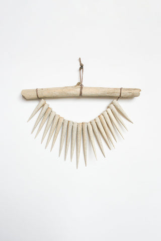 Heather Levine Small Wall Hanging - Driftwood with Spikes in Off White