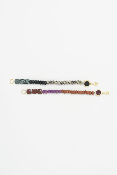 Abby Carnevale Beaded Bracelet in 14K Gold Plated Brass - Red