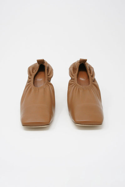 Rejina Pyo Edie Pump in Brown front view