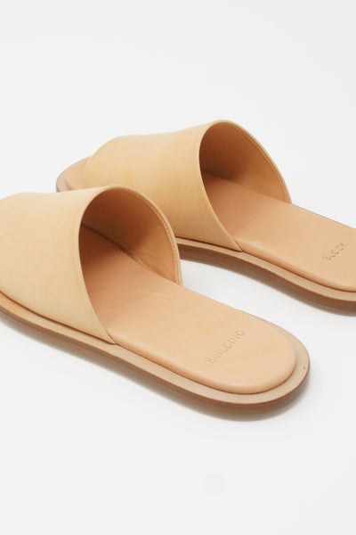 Building Block Issei Slide in Veg Tan diagonal back view
