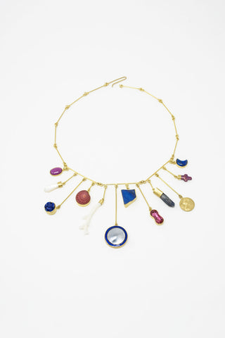 Grainne Morton Wire Charm Drop Necklace