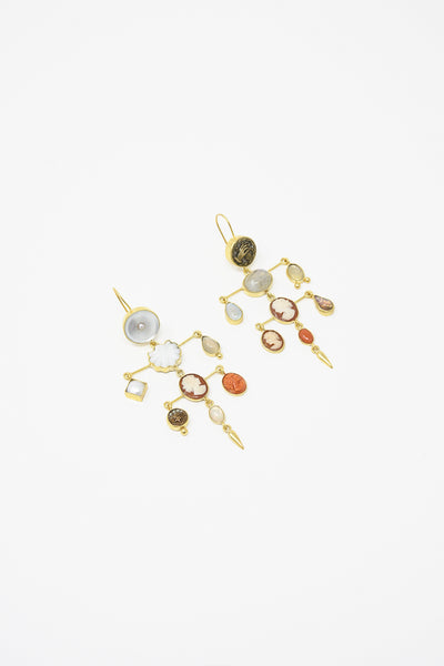 Grainne Morton Layered Victorian Drop Earrings