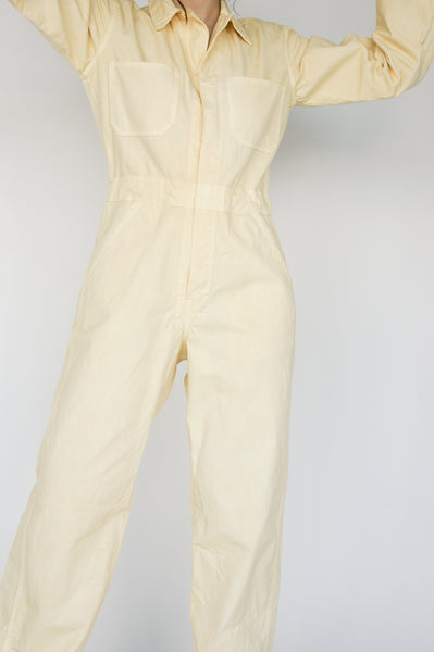 As Ever Zip Jumpsuit in Sundrop on model view front