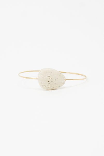 Mary MacGill Stone Cuff in Roman Travertine