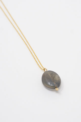 Mary MacGill Stone Drop Necklace in Labradorite