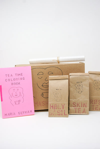 Masha Tea Gift Box Set in Holy Basil, Rosy, Skin