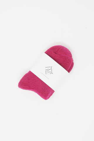 Baserange Buckle Ankle Socks in Calico Pink