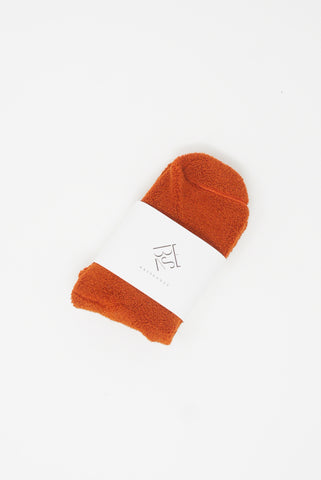 Baserange Buckle Ankle Socks in Murcott Orange