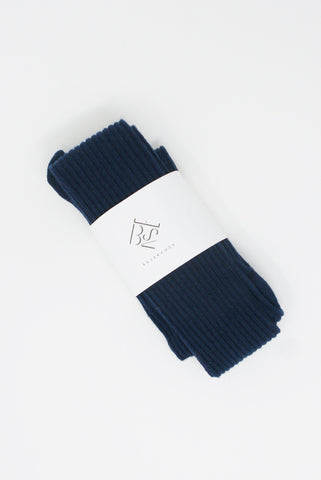 Baserange Overknee Socks - Cotton in Blue