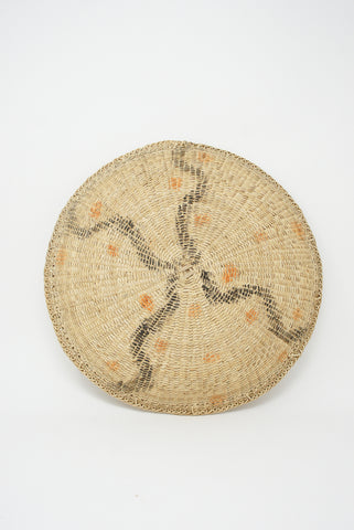 Incausa Xotehe Basket - Urucum and Jenipapo Graphism in Natural back view