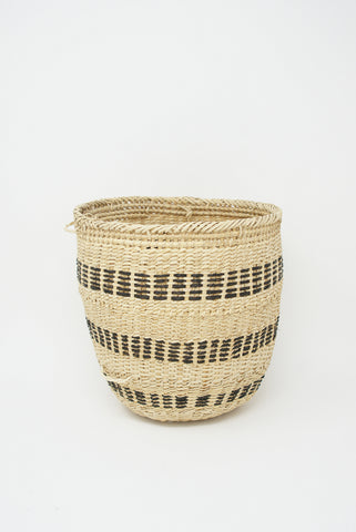 Incausa Wii Basket - Perisi Funghi in Natural with Black Stripe side view