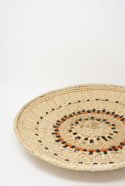 Incausa Xotehe Basket - Yanomami Graphism in Natural diagonal top view