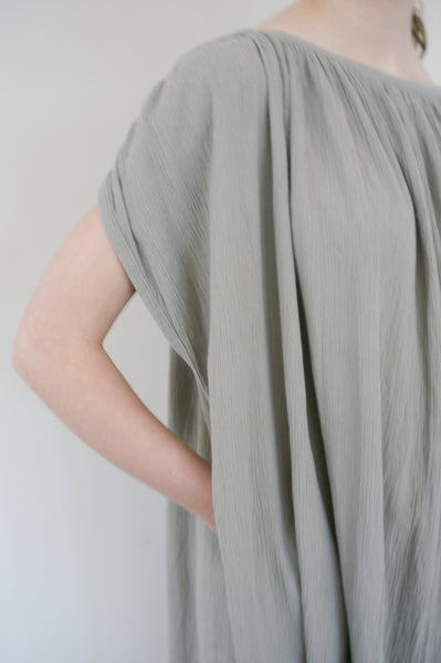 Black Crane Mont Blanc Dress in Stone pocket detail view
