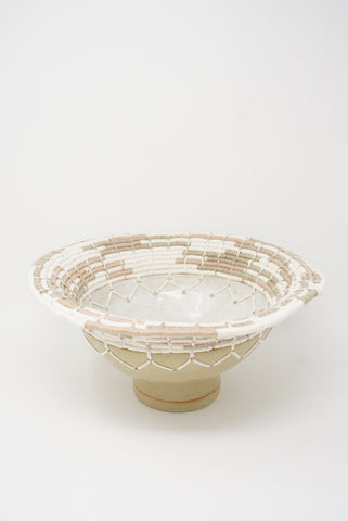Karen Tinney Vessel #725 in Tan/White/Blush