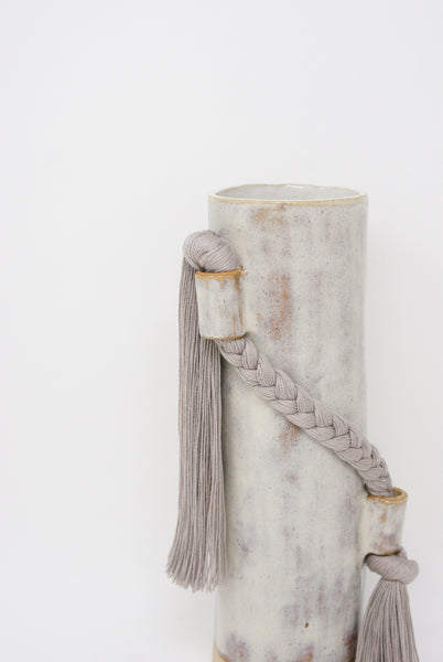 Karen Tinney Vase #695 in Gray braid detail