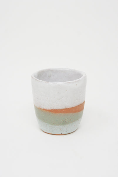 Shino Takeda Tea Cup in Cream/Sage