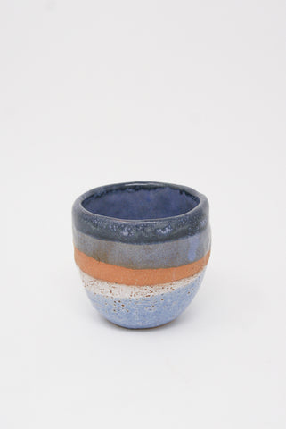 Shino Takeda Tea Cup in Purple/Rust/Cream