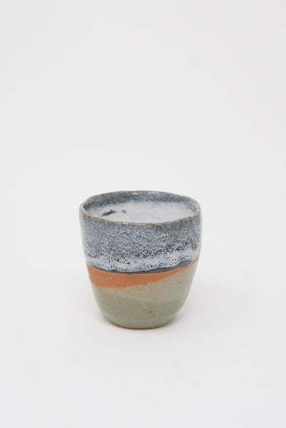 Shino Takeda Whiskey Cup in Blue/Rust/Sage