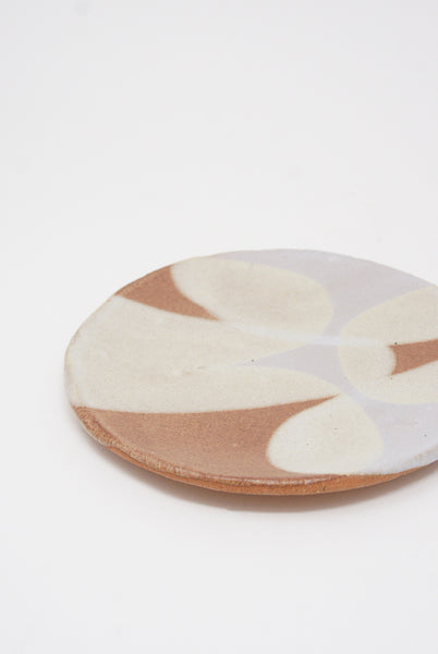 Shino Takeda Plate in Gray/Cream/Rust I side view